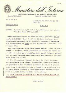 La lettre circulaire n. 70 du ministère de l'Intérieur