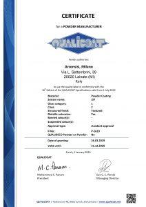 Certification Qualicoat pour les peintures en poudre Arsonsisi série J57
