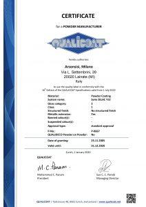 Certification Qualicoat pour les peintures en poudre Arsonsisi série Y52